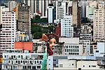 Pintura mural em predio, centro de Sao Paulo. 2019. Foto © Juca Martins