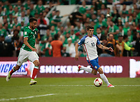 Mexico City, Mexico - Sunday June 11, 2017: Christian Pulisic during a 2018 FIFA World Cup Qualifying Final Round match between the men's national teams of the United States (USA) and Mexico (MEX) at Azteca Stadium.