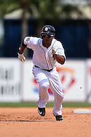 Detroit Tigers outfielder Anthony Gose (12) during a Spring Training game against the Miami Marlins on March 25, 2015 at Joker Marchant Stadium in Lakeland, Florida.  Detroit defeated Miami 8-4.  (Mike Janes/Four Seam Images)