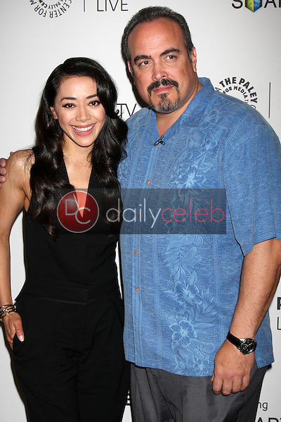 "Aimee Garcia, David Zayas<br /> at the PaleyFest Fall Previews:  Fall Farwell - ""Dexter,"" Paley Center for Media, Beverly Hills, CA 09-12-13<br /> David Edwards/DailyCeleb.Com 818-249-4998"