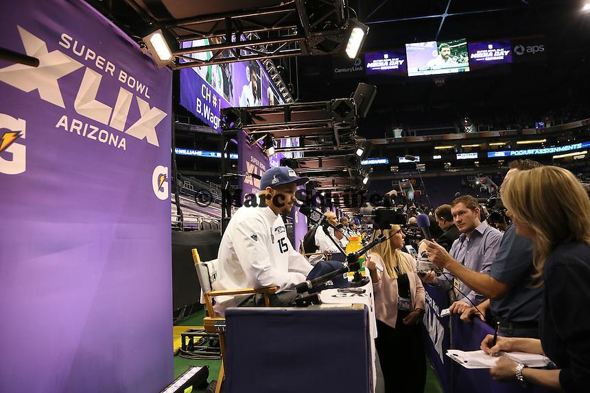 WR Jermaine Kearse (Seattle)  - Super Bowl XLIX Media Day, US Airways Center, Phoenix