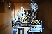 Mechanik der Turmuhr im Glockenturm des Darmstädter Residenzschlosses