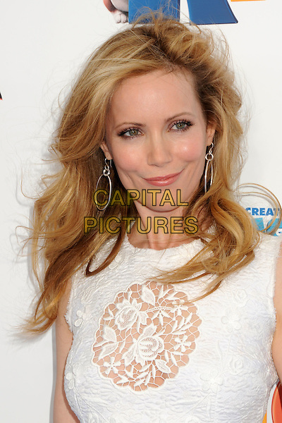 "LESLIE MANN .""Rio"" Los Angeles Premiere held at Grauman's Chinese Theatre,  Hollywood, California, USA, .10th April 2011.portrait headshot white lace cut out sheer  beauty .CAP/ADM/BP.©Byron Purvis/AdMedia/Capital Pictures."