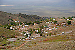 Historic mining town of Austin and the Reese River Valley from Austin Summit on U.S. 50