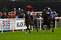 Winner of Bathwick Tyres Salisbury Handicap (Class 6), Ocean Galel (green) ridden by George Wood and trained by Richard Price during Afternoon Racing at Salisbury Racecourse on 7th August 2017