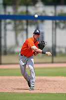 Miami Marlins Tyler Curtis (49) during a Minor League Spring Training game against the Washington Nationals on March 28, 2018 at FITTEAM Ballpark of the Palm Beaches in West Palm Beach, Florida.  (Mike Janes/Four Seam Images)
