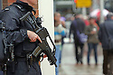 Heavily Armed Police during protests against the G8 Summit in Belfast, Northern Ireland, 15 June 2013. Leaders from Canada, France, Germany, Italy, Japan, Russia, USA and UK are meeting at Lough Erne in Northern Ireland for the G8 Summit 17-18 June.