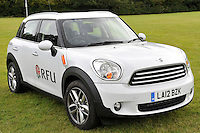 Drybrook, England. RFU BMW mini at the RFU and Canterbury Official launch of the new season's England kit at Drybrook RFC Mannings Ground, Gloucestershire, England on September 19, 2012
