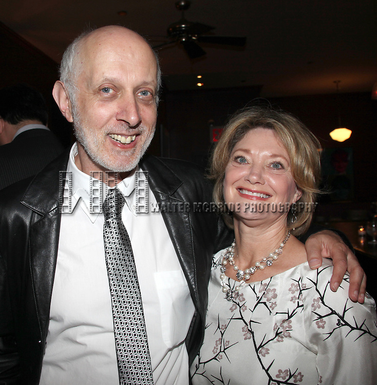 Co-Bookwriter Colin Escott & wife.attending the Pasadena Playhouse Pre-Broadway Opening Night Reception for 'Baby It's You!' at Angus Restaurant in New York City.