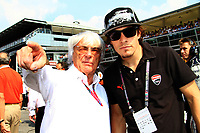 Bernie ECCLESTONE on the grid with Nicky Hayden (USA) MotoGP rider of team Ducati -<br /> Motorsport - Formula 1<br /> Grand Prix of Italy<br /> Monza, Italy<br /> 11 September 2011<br /> &copy; Sport the library / ATP