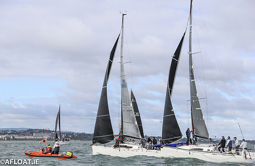 Andrew Alego's Juggerknot II (weather boat) and Paul O'Higgins' Rockabill VI