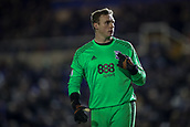4th December 2017, St. Andrews Stadium, Birmingham, England; EFL Championship football, Birmingham City versus Wolverhampton Wanderers; David Stockdale of Birmingham City asks the Wolverhampton Wanderers fans if they are singing about him