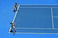 Miyu Kato (JPN) and Eri Hozumi (JPN) during the ASB Classic WTA Women's Tournament Day 7 Doubles Final. ASB Tennis Centre, Auckland, New Zealand. Sunday 7 January 2018. ©Copyright Photo: Chris Symes / www.photosport.nz