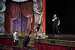 Acrobats rehearsing for Cirque du Soleil's IRIS at the Kodak Theatre in Hollywood, CA