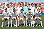 02 July 2007: Mexico's starters pose for a team photo. Front row (l to r): Efrain Juarez, Omar Esparza, Cesar Villaluz, Adrian Aldrete, Javier Hernandez. Back row: Patricio Araujo, Carlos Vela, Julio Cesar Dominguez, Alfonso Blanco, Hector Moreno, Giovanni Dos Santos. At the National Soccer Stadium, also known as BMO Field, in Toronto, Ontario, Canada. Mexico's Under-20 Men's National Team defeated Gambia's Under-20 Men's National Team 3-0 in a Group C opening round match during the FIFA U-20 World Cup Canada 2007 tournament.