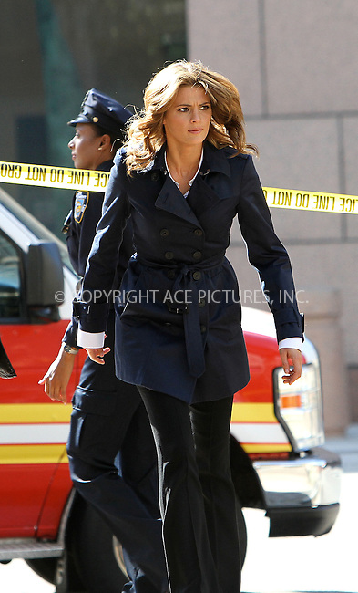 WWW.ACEPIXS.COM....August 9, 2012, Los Angeles, CA....Actress Stana Katic on the set of the television show 'Castle' on August 9, 2012 in Los Angeles, CA.........By Line: Nancy Rivera/ACE Pictures....ACE Pictures, Inc..Tel: 646 769 0430..Email: info@acepixs.com