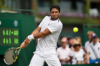 England, London, 23.06.2014. Tennis, Wimbledon, Fernando Verdasco (ESP)<br /> Photo:Tennisimages/Henk Koster