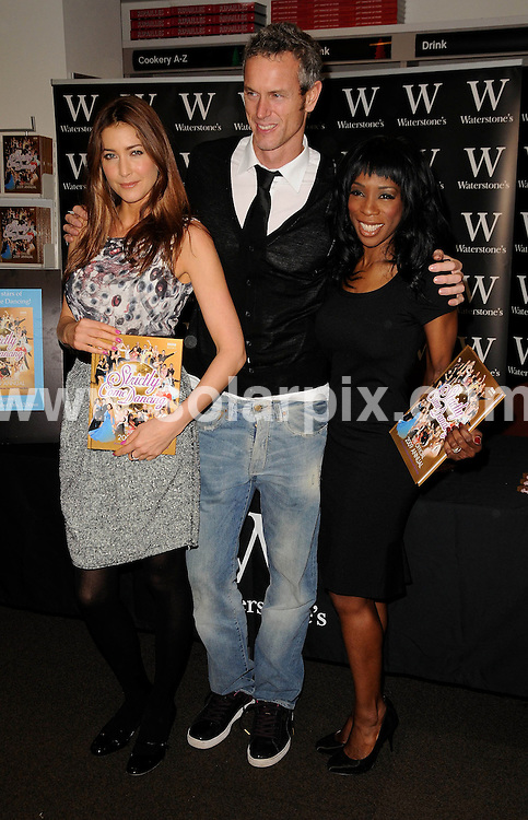**ALL ROUND PICTURES FROM SOLARPIX.COM**.**WORLDWIDE SYNDICATION RIGHTS**.The Strictly come dancing TV crew Lisa Snowdon, Mark Foster and Heather Small promoting their new book at waterstones photocall in London today.This pic: Lisa Snowdon, Mark Foster and Heather Small..JOB REF:7878- MSR    DATE:13-11-08 .**MUST CREDIT SOLARPIX.COM OR DOUBLE FEE WILL BE CHARGED* *UNDER NO CIRCUMSTANCES IS THIS IMAGE TO BE REPRODUCED FOR ANY ONLINE EDITION WITHOUT PRIOR PERMISSION*