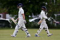 Brondesbury lose their ninth wicket during Finchley CC vs Brondesbury CC (batting), ECB National Club Championship Cricket at Arden Field on 12th May 2019