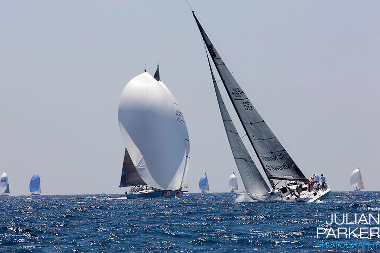 The Copa Del Rey sailing regatta in Palma, Mallorca, general views on the first day of racing.