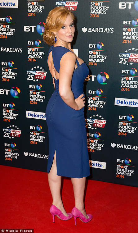 Elise Christie attends the BT Sport Industry Awards at Battersea Evolution on May 8, 2014 in London, UK.