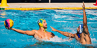 11 HOLLIS Lachlan AUS, 7 CROUSILLAT Ugo FRA  <br /> FRA (white cap) -  AUS (blue cap)<br /> Preliminary Round Water Polo Women<br /> Day06  19/07/2017 <br /> XVII FINA World Championships Aquatics<br /> Alfred Hajos Complex Margaret Island  <br /> Budapest Hungary <br /> Photo @ Deepbluemedia/Insidefoto