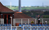 PICTURE BY VAUGHN RIDLEY/SWPIX.COM - Cricket - County Championship, Div 2 - Yorkshire v Northamptonshire, Day 2  - Headingley, Leeds, England - 31/05/12 - A gentleman enjoys the view from Headingley to South Leeds.