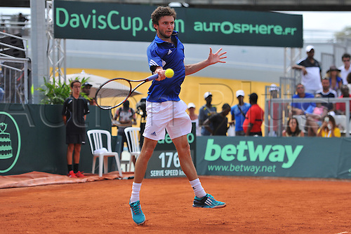 05.03.2016. Vélodrome Amédée Detraux, Guadeloupe, France. Davis Cup 1st round. France versus Canada.  Gilles Simon (Fra)
