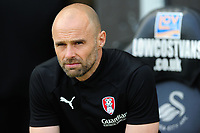 Paul Warne Manager of Rotherham United during the Sky Bet Championship match between Swansea City and Rotherham United at the Liberty Stadium in Swansea, Wales, UK.  Friday 19 April 2019