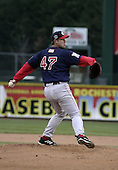 April 12, 2004:  Ed Yarnell of the Pawtucket Red Sox, Triple-A International League affiliate of the Boston Red Sox, during a game at Frontier Field in Rochester, NY.  Photo by:  Mike Janes/Four Seam Images