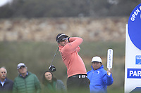 Dean Burmester (RSA) on the 11th tee during Round 2 of the Open de Espana 2018 at Centro Nacional de Golf on Friday 13th April 2018.<br /> Picture:  Thos Caffrey / www.golffile.ie<br /> <br /> All photo usage must carry mandatory copyright credit (&copy; Golffile | Thos Caffrey)
