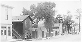 Early view of Buena Vista business district.  Street of town buildings including office of Chaffe County Times.<br /> Buena Vista, CO
