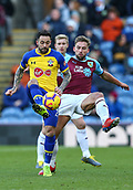 2nd February 2019, Turf Moor, Burnley, England; EPL Premier League football, Burnley versus Southampton; Danny Ings of Southampton volleys a pass with Charlie Taylor of Burnley close by