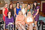 FUN: Having a great night at the Ballyheigue Hurling GAA Social in the White Sands Hotel, Ballyheigue on Friday night, Front l-r: Avril Gleeson, Eimear OMahony and Fiona Colgan. Back l-r: Stacey Reidy, Siobhan Hussey, Christina Dineen, Jackie OCarroll, Ailing ORourke and Muirosa Stack...