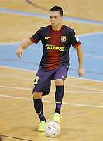FC Barcelona Alusport's Saad Assis during Spanish National Futsal League match.November 24,2012. (ALTERPHOTOS/Acero) /NortePhoto