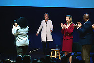 Philadelphia, PA - November 5, 2016: Democratic presidential candidate Hillary Clinton enters the stage at the Mann Center as she is greeted with applause before speaking to supporters during a GOTV rally in Philadelphia, PA, November 5, 2016, days before the November 8th election against republican candidate Donald Trump. (Photo by Don Baxter/Media Images International)