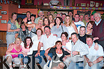 Cal John Galvin, seated with the white check shirt was shocked when he arrived at Herbert.s bar in Kilfynn on Friday night to find all his family and friends there before him to celebrate his 40th birthday.   Copyright Kerry's Eye 2008