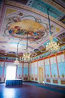 Interior of Palazzo Nicolaci di Villadorata (Nicolaci Palace), Noto, Val di Noto, UNESCO World Heritage Site, Sicily, Italy, Europe. This is a photo of the interior of Palazzo Nicolaci di Villadorata (Nicolaci Palace) in Noto, in an area known as Val di Noto in Sicily, Italy, Europe.