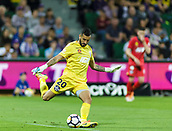 4th November 2017, nib Stadium, Perth, Australia; A-League football, Perth Glory versus Adelaide United; Adelaide United keeper Paul Izzo kicks out