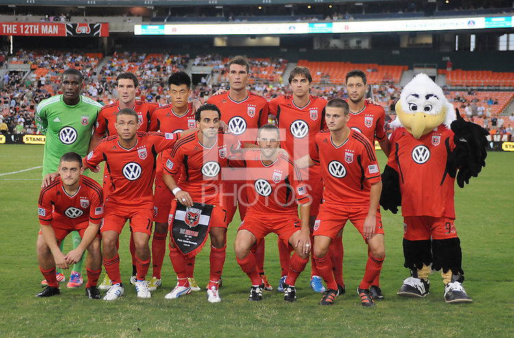 D.C. United Team Photo.  D.C. United tied Paris St. Germain 1-1 at RFK Stadium, Saturday 28, 2012.