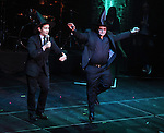 Rory O'Malley & Josh Gad.performing in 'MISCAST 2012' MCC Theatre's Annual Musical Spectacular at The Hammerstein Ballroom in New York City on 3/26/2012.