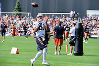 Wednesday, August 17, 2016: New England Patriots tight end Clay Harbor (81) makes a catch a joint training camp session between the Chicago Bears and the New England Patriots held at Gillette Stadium in Foxborough Massachusetts. Eric Canha/CSM