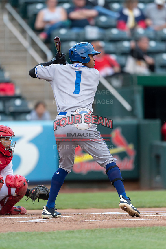 Amarillo Sod Poodles center fielder Buddy Reed (1) during a Texas League game against the Springfield Cardinals on April 25, 2019 at Hammons Field in Springfield, Missouri. Springfield defeated Amarillo 8-0. (Zachary Lucy/Four Seam Images)