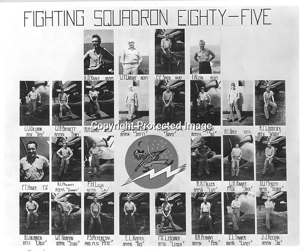 U.S.S. Shangri-La (CV38) Fighting Squadron 85 (VF-85) Maintenance and Support roster - VF-85 flew F4U Corsairs - 1944 or 1945