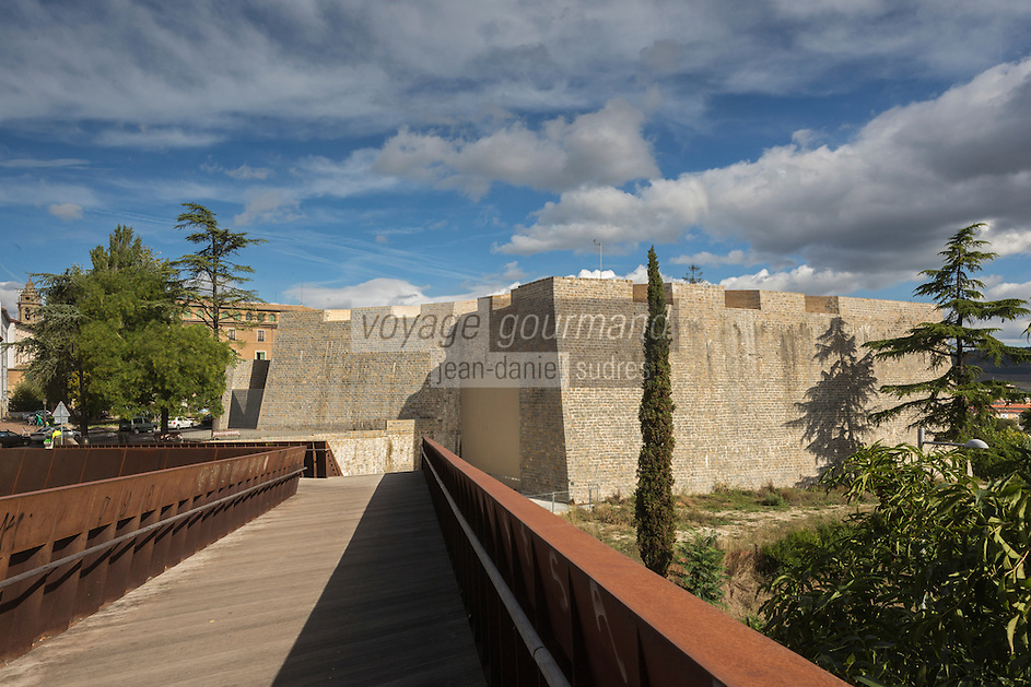 Espagne, Navarre, Pampelune: Remparts de Pampelune, Bastion du Labrit, //  Spain, Navarre, Pamplona:  City Walls of Pamplona,  Bastion of Labrit
