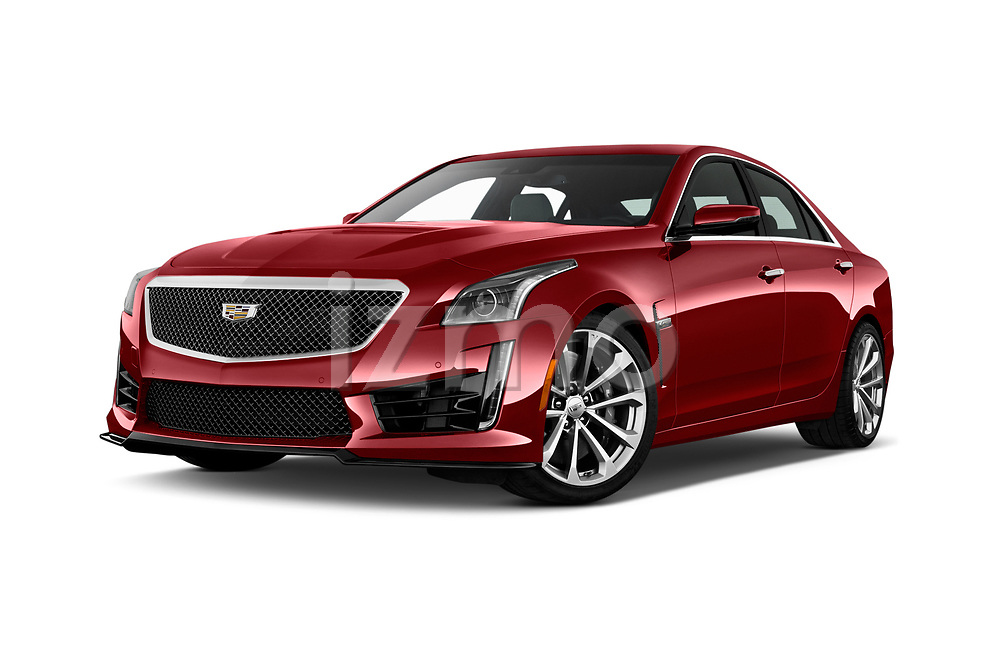Stock pictures of low aggressive front three quarter view of 2018 Cadillac CTS V V 4 Door Sedan Low Aggressive