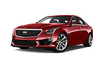 Stock pictures of low aggressive front three quarter view of 2016 Cadillac CTS V V 4 Door Sedan Low Aggressive