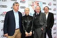 HOLLYWOOD, CA - NOVEMBER 12: Michael Barker, Helen Mirren, Donald Sutherland, Tom Bernard, at The Leisure Seeker Special Screening During AFI Fest 2017 at the Egyptian Theatre in Hollywood, California on November 12, 2017. Credit: Faye Sadou/MediaPunch /NortePhoto.com