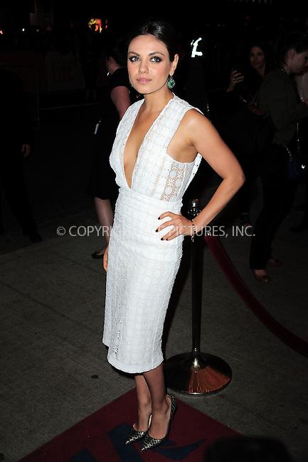 WWW.ACEPIXS.COM<br /> <br /> September 9 2013, Toronto<br /> <br /> Mila Kunis arriving at the 'Third Person' Premiere during the 2013 Toronto International Film Festival at The Elgin on September 9, 2013 in Toronto, Canada.<br /> <br /> By Line: William Bernard/ACE Pictures<br /> <br /> <br /> ACE Pictures, Inc.<br /> tel: 646 769 0430<br /> Email: info@acepixs.com<br /> www.acepixs.com
