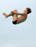 Tennis Club's Eric Bowen competes during the 53rd annual Country Club League diving championships Wednesday, Aug. 8, 2012, in Sandy, Utah. (© 2012 Douglas C. Pizac)